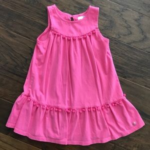 Little girls size 4T pink GUESS dress with poms